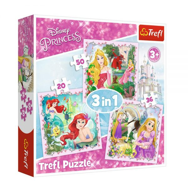 trefl puzzle princess 3in1 34842 grammibookshop new