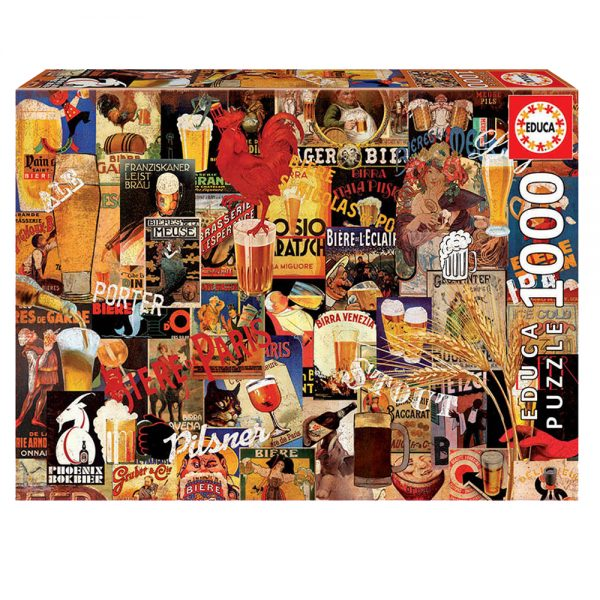 Educa Puzzle Vintage Beer Collage 1000pcs 17970 grammibookshop
