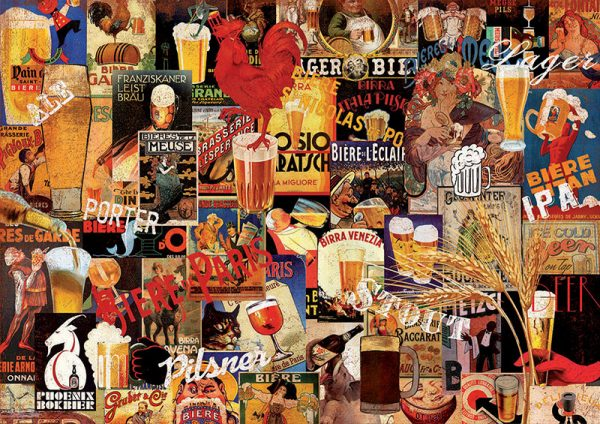 Educa Puzzle Vintage Beer Collage 1000pcs 17970 grammibookshop 1