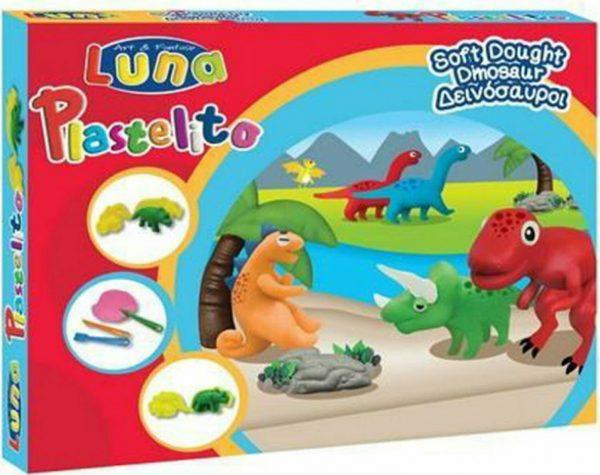 luna soft dought dinosaur plastelini grammibookshop