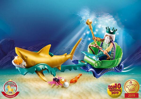 Βασιλιάς της Θάλασσας με άμαξα καρχαρία 1