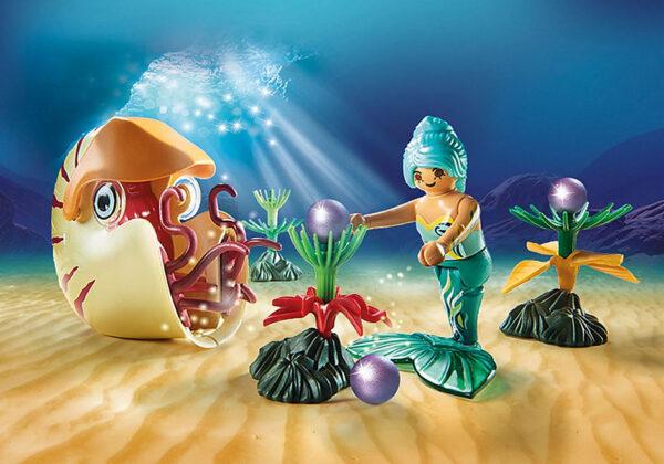 Γοργόνα με Θαλάσσιο Σαλιγκάρι Γόνδολα