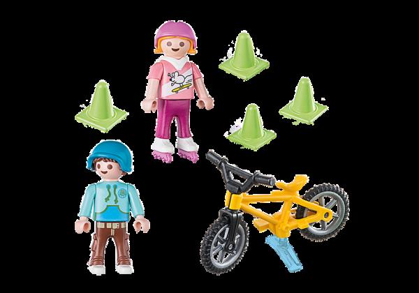 Παιδάκια με πατίνια και ποδήλατο BMX 1