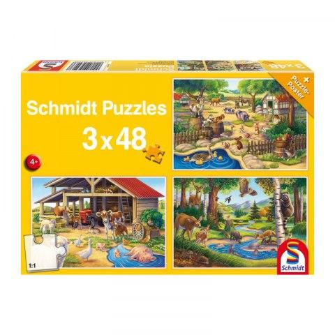 Puzzle Zwierzeta 3 48 elementow 6024 480