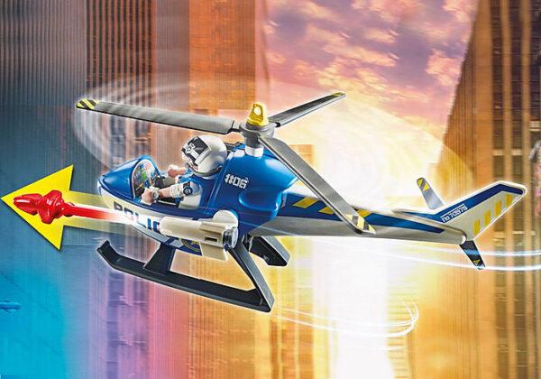 Αστυνομικό ελικόπτερο και ληστές με βαν 2